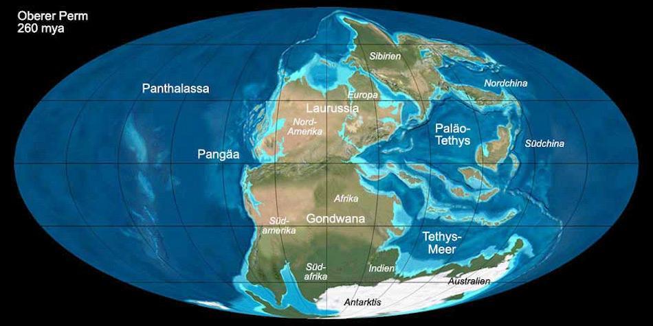 Vor 260 Millionen Jahre waren Südamerika, Afrika und die Antarktis miteinander verbunden. Das Gebiet des Kraters lag damals zwischen den drei Kontinenten. Bild: Christoph Benisch