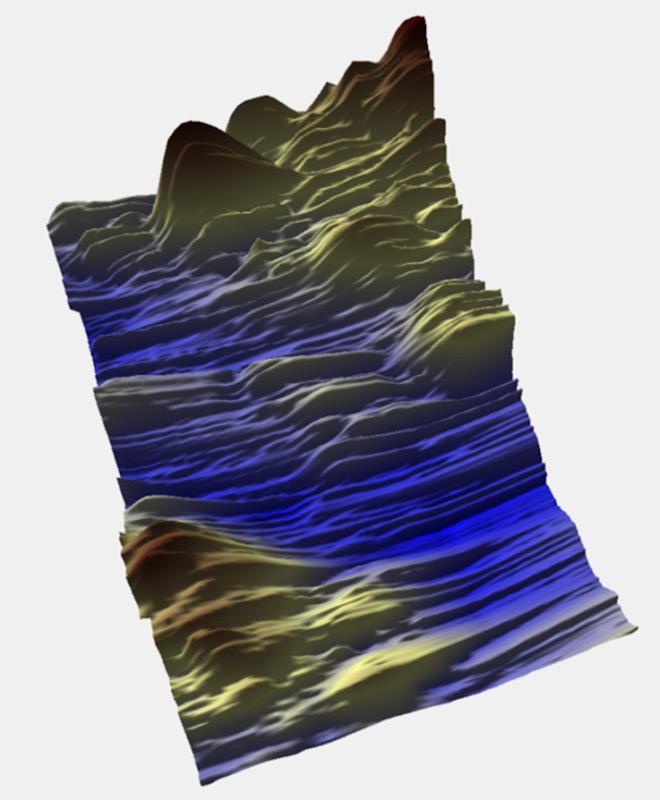Die neuen Messungen zeigen eine zerklüftete und vernarbte Landschaft mit Bergen und tiefen Trögen. Gemäss der Forscher wird dies einen signifikanten Einfluss auf die Fliesseigenschaften der Gletscher haben. Bild: BAS