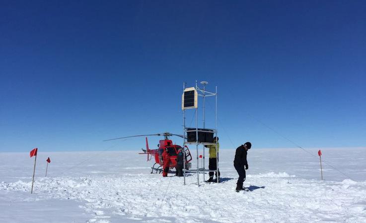Ein Forscherteam aus Australien und den USA haben den ganzen Sommer auf der Totten-Gletscherzunge