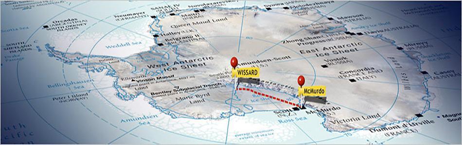 Das Wissard Bohrstelle liegt ca. 800 Kilometer von McMurdo entfernt in der Westantarktis.