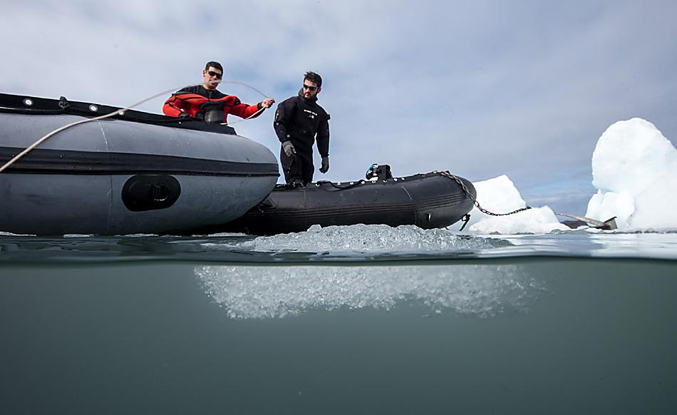 Taucheinsatz vor dem Gletscher in Potter Cove. Foto: AWI, Anders Torstensson