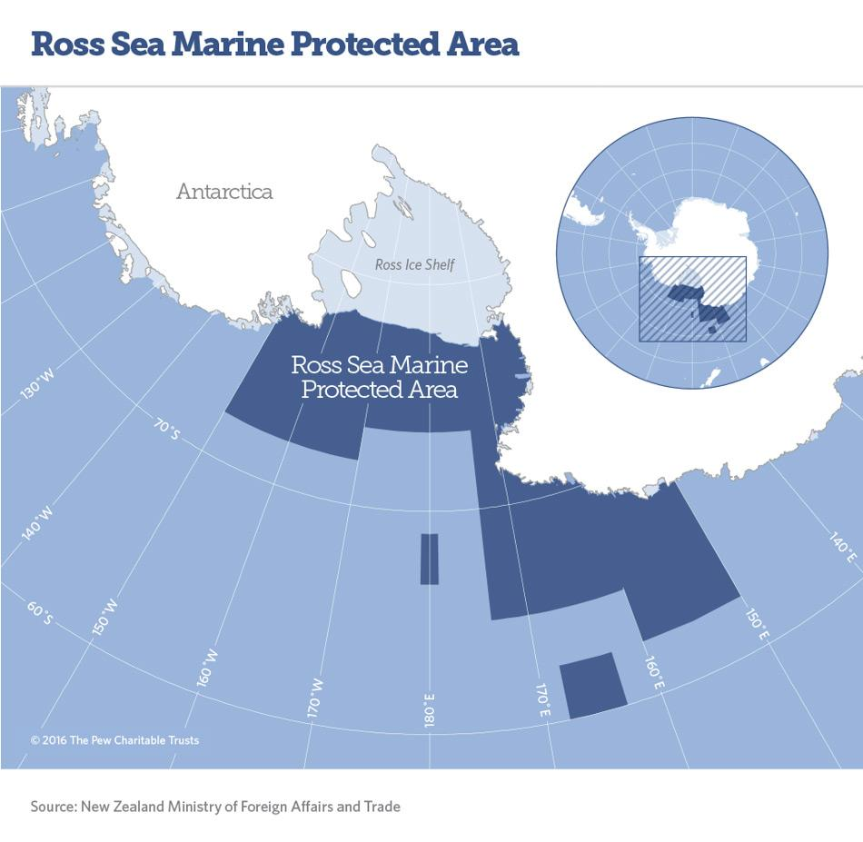 Das neue Meeresschutzgebiet im Rossmeer wird rund 1,55 Millionen Quadratkilometer umfassen. Bild: New Zealand Ministry of Foreign Affairs and Trade