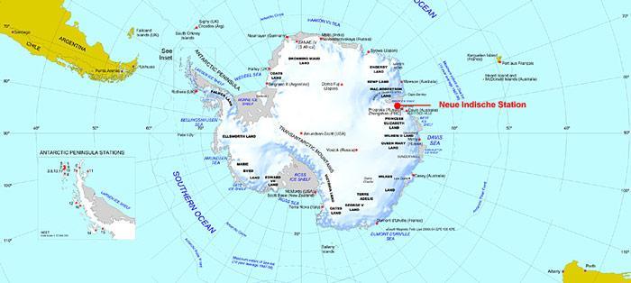 Antarktis-Stationen