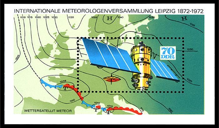 In der ehemaligen DDR wurde zum Start des ersten Wettersatelliten eine Sondermarke herausgegeben.
