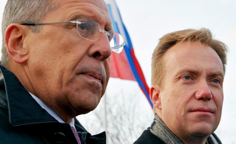 Die beiden Aussenminister hatten sich das letzte Mal im Oktober 2014 getroffen. Doch schon dort waren die Spannungen auf den Gesichtern der beiden Männer zu sehen gewesen und das Treffen war wenig freundschaftlich. Bild: Thomas Nilsen