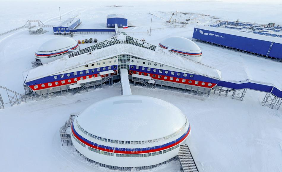 Der neueste Militärkomplex auf der Aleksandra Land ist die nördlichste und grösste von Menschen gebaute Konstruktion in der Arktis. Sie dient als Hauptbasis der ganzen Region. Bild: Russische Verteidigungsministerium