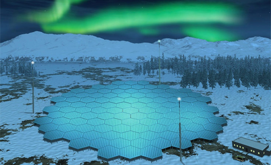 Die neueste Wetterradaranlage wird in Norwegen, Schweden und Finnland aufgebaut werden und soll aus Modulen bestehen, die in der Arktis aufgebaut werden, wie auf dem Bild eines Künstlers zu sehen. Bild: British Antarctic Survey