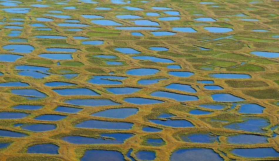 Durch das Auftauen der Permafrostböden werden riesige Mengen an Methangas freigesetzt und heizen die Klimaerwärmung noch zusätzlich an.
