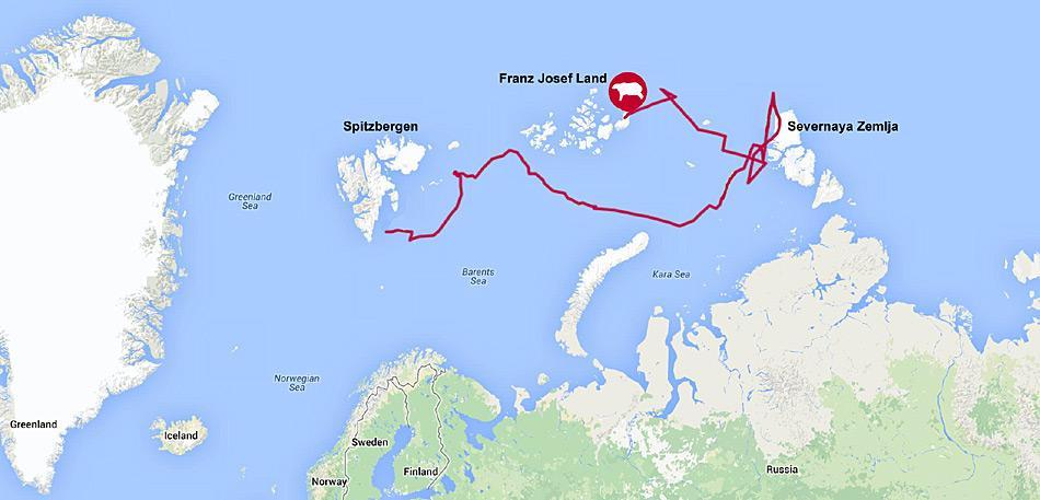 Insgesamt hatte Kara über 3700 Kilometer zurückgelegt, bevor der Sender verstummte.