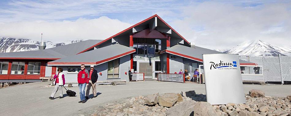 Das Radisson Blu Hotel ist gegenwärtig eines der wenigen grösseren Hotel auf Spitzbergen. (Foto: Spitsbergen Travel)