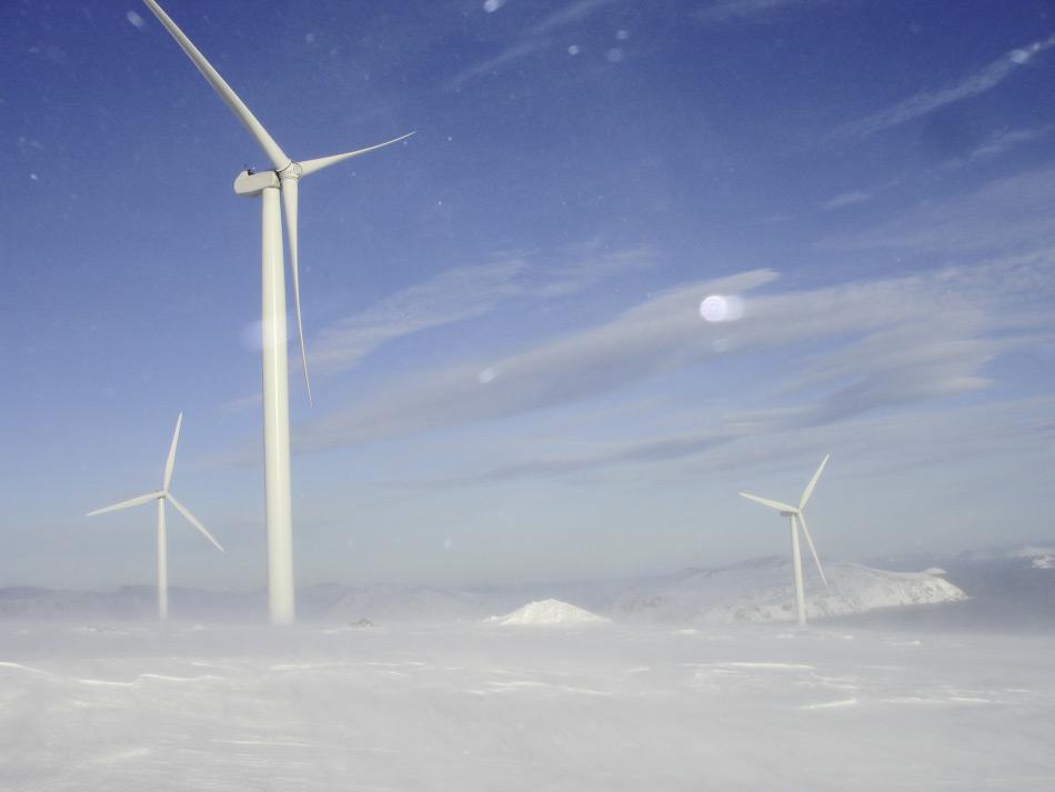 Der nördlichste Windpark der Welt steht in Havøygavlen, rund 50 Kilometer südlich des Nordkaps in Norwegen. Geht es nach den Plänen von Zhenya Liu, würde man noch etwas nördlicher gehen und ein Netzwerk von Windparks rund um die ganze Arktis errichten. Bild: Seebawind