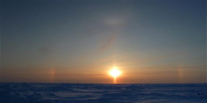 Arktis Sonnenphänomen