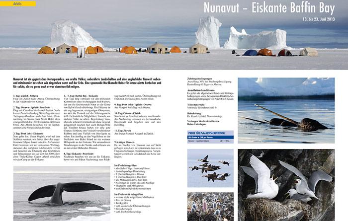 Neu organisiert PolarNEWS im Frühjahr 2013 eine Expedition zur Eiskante in der Baffin Bay.