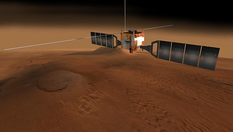 Nach dem Start am 2. Juni 2003, dem Ausfahren der drei bis 20 Meter langen Antennen einigen weiteren Tests konnte die Sonde «Mars Express» am 4. Juli 2005 seine wissenschaftliche Arbeit aufnehmen.