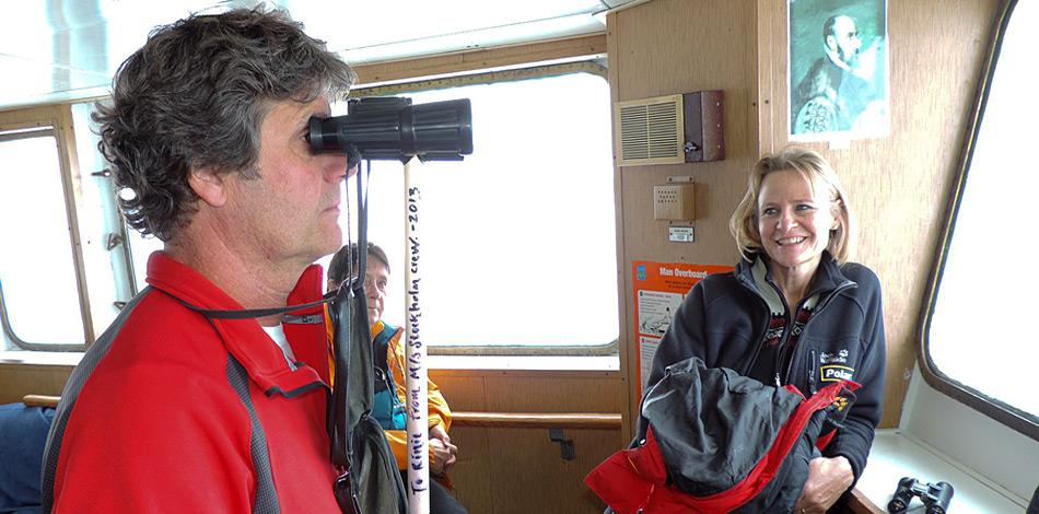 Den «Eisbären-Professor» Rinie van Meurs als Expeditionsleiter an Bord zu haben ist ein sicherer Wert um Eisbären zu sehen!